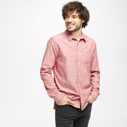 814edeb66a33 Pepe Jeans - Chemise manches longues denim slim effet moucheté homme  Jonsson Pepe Jeans - Rouge