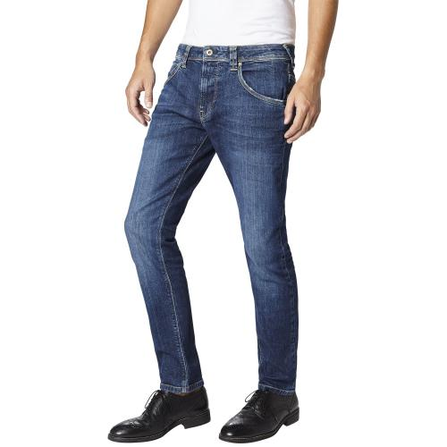 Pepe Jeans - Jean slim 5 poches homme Pepe Jeans - Bleu - Jean