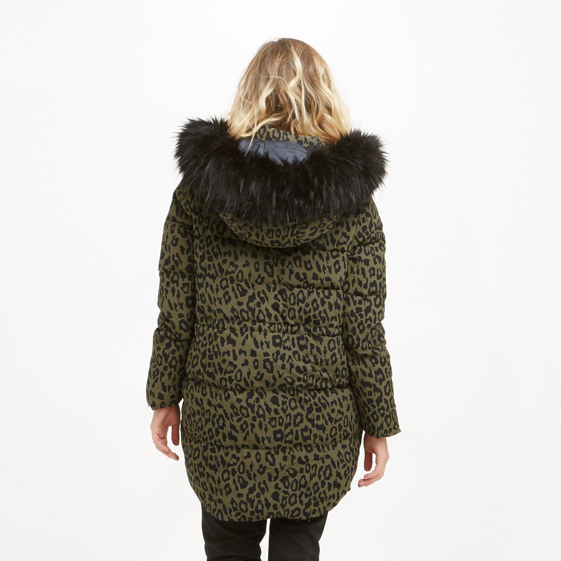 0bf14097e89 Doudoune longue à capuche imprimé leopard Fleur Pepe Jeans - Imprimé Pepe  Jeans