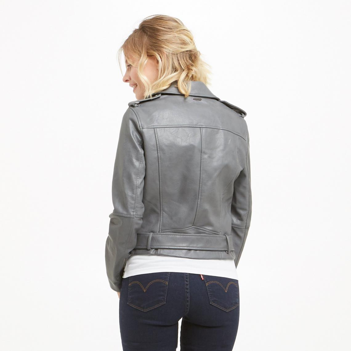 caf53a8d0bed Perfecto femme Ninel Pepe Jeans - Gris