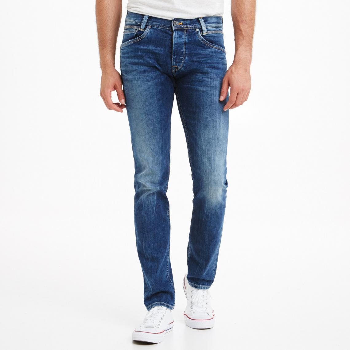 6004115f54f Jean regular slim L32 Spike homme Pepe Jeans - 11OZ STREAKY STRETCH MED Pepe  Jeans
