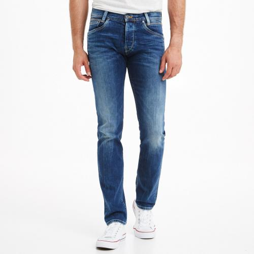 Pepe Jeans - Jean regular/slim L32 Spike homme Pepe Jeans - 11OZ STREAKY STRETCH MED - Promos vêtements homme