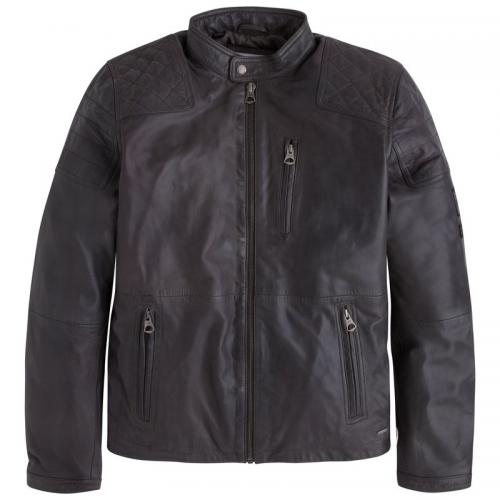 Pepe Jeans - Blouson cuir homme Lennon 18 Pepe Jeans® - Gris Anthracite - Pepe jeans