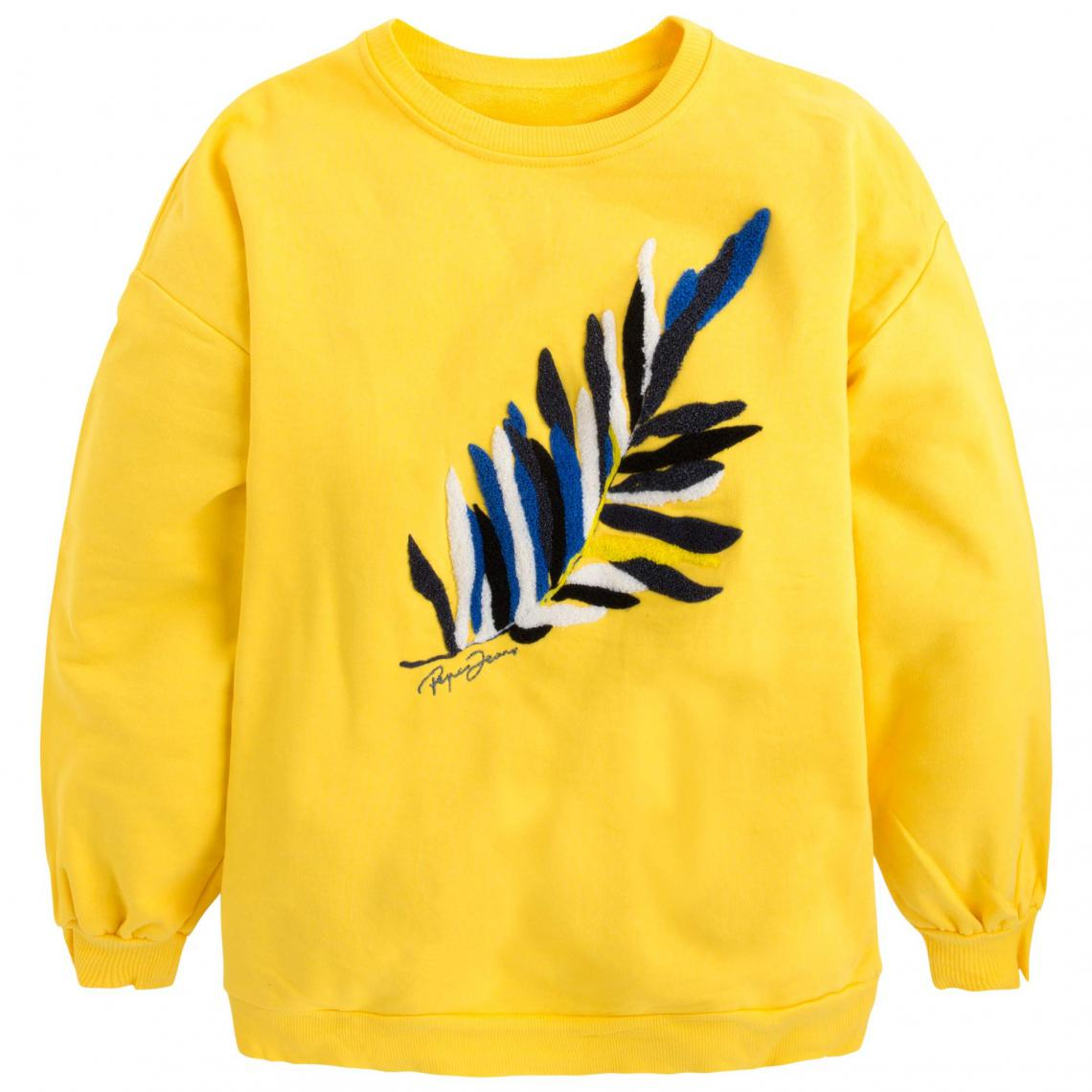 Pepe Col Jaune Jeans Rond Sweat Femme rsxhQdtCB