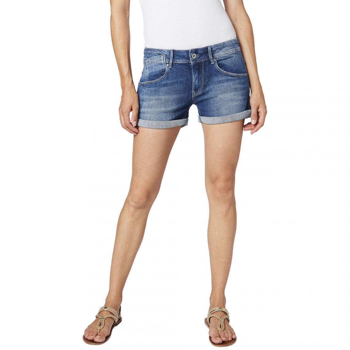874f9dd9667 Bleu 3suisses Jeans Pepe Short Denim Femme qYwzIpI