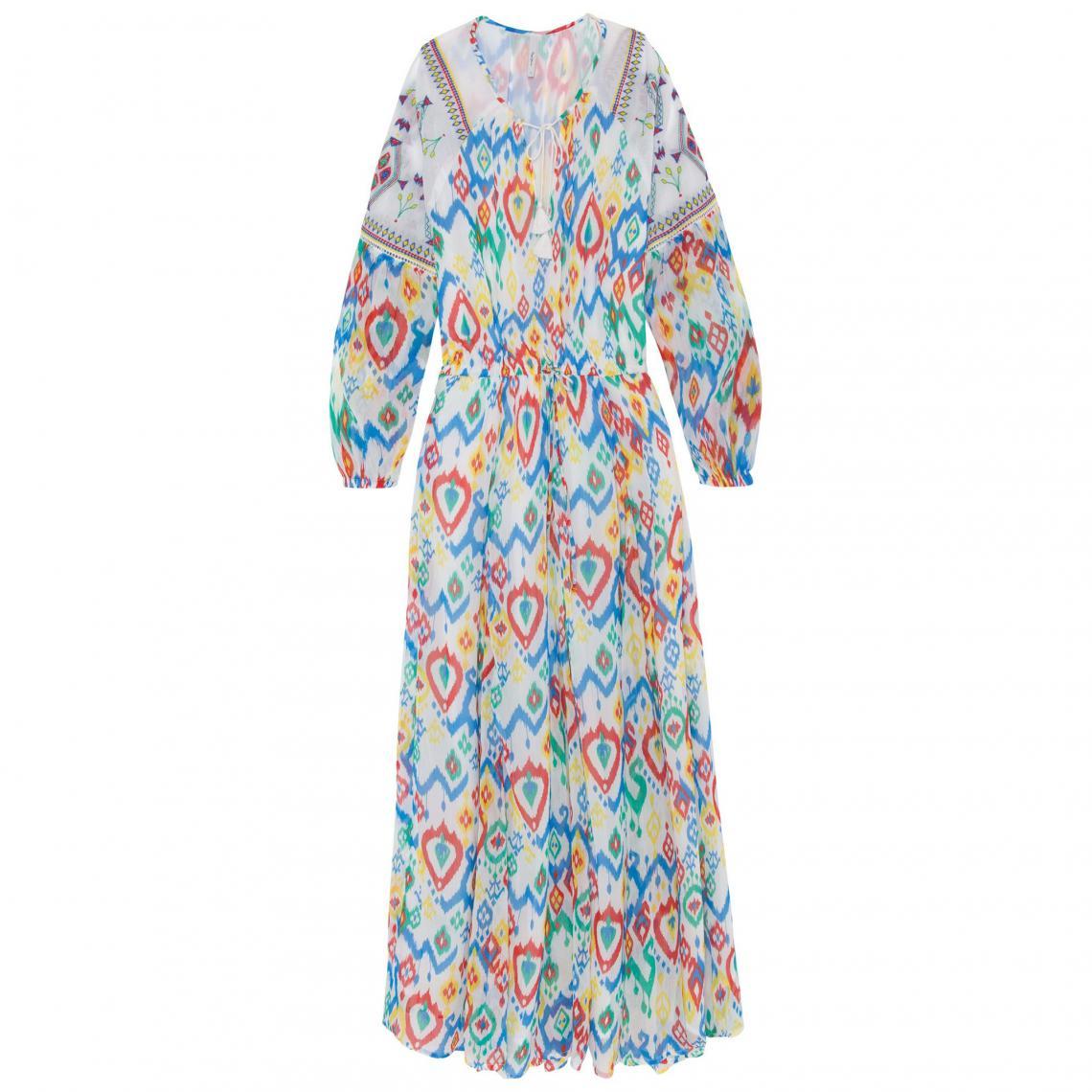 Longues Manches Femme Robe Longue Pepe Suisses Jeans Multicolore3 TKlF13Jc
