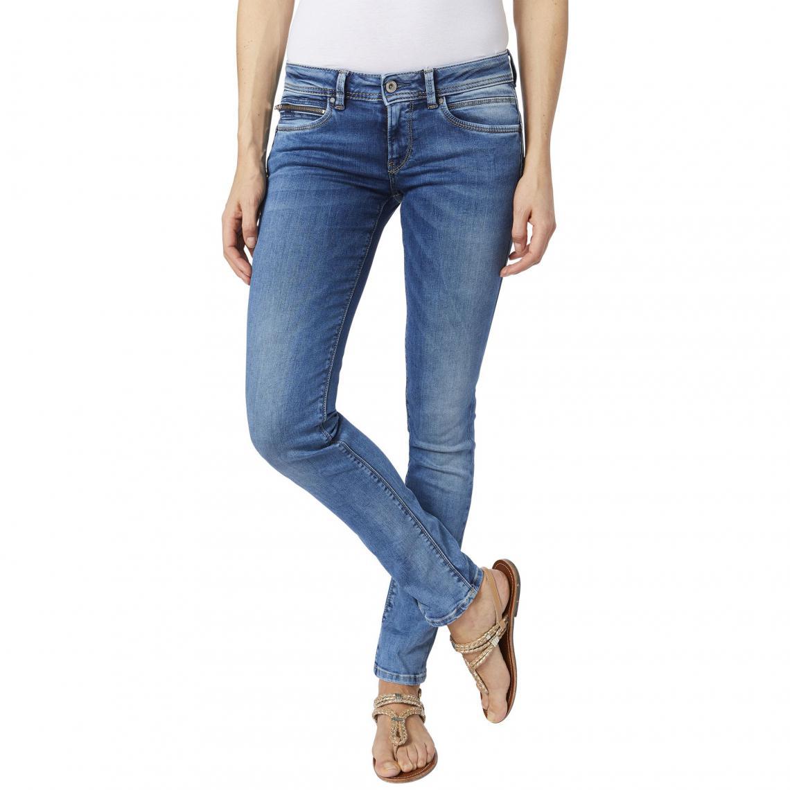 Femme New Brooke L32 Jeans Flex Medium Slim Power Jean Pepe vRqYPBpnw