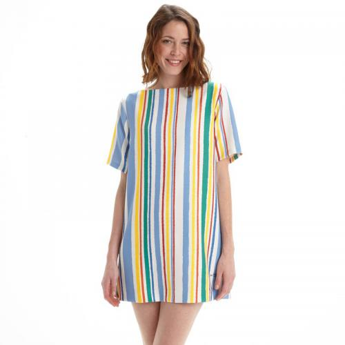 Pepe Jeans - Robe courte rayures multicolores femme Pepe Jeans - Multicolore - Robes femme multicolore