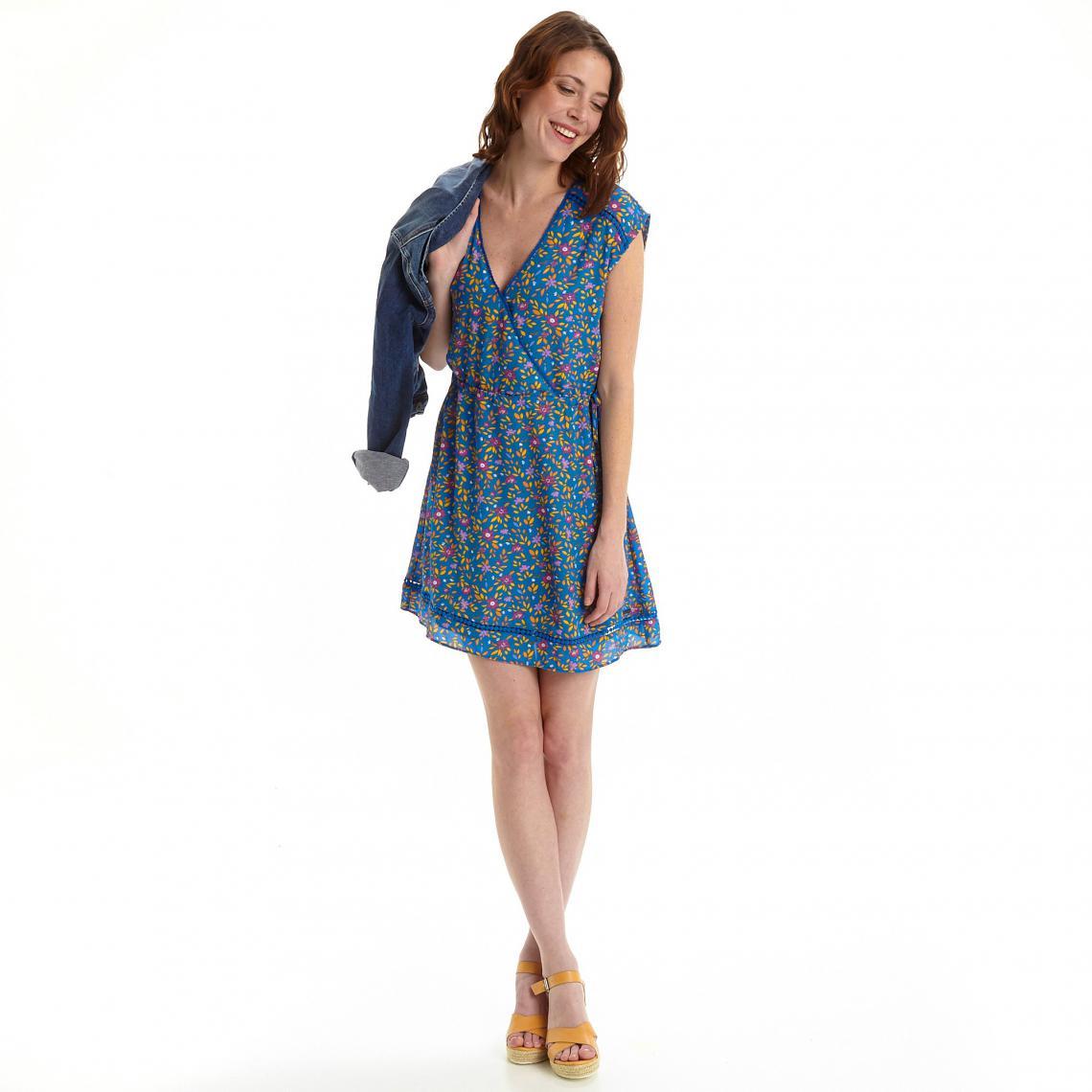 Robe Portefeuille Imprime Femme Pepe Jeans Bleu 3 Suisses