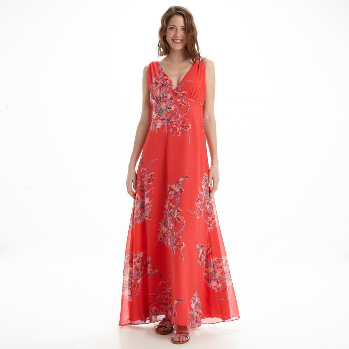 Robe Longue Imprime Fleurs Femme Pepe Jeans Rouge 3suisses