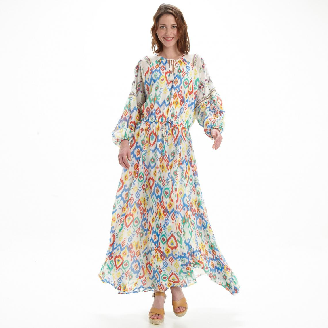 7e1efeda2a0 Robe longue manches longues femme Pepe Jeans - Multicolore Pepe Jeans Femme