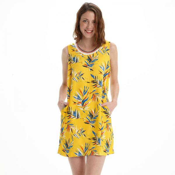 Robe courte femme Pepe Jeans - Jaune Pepe Jeans Femme
