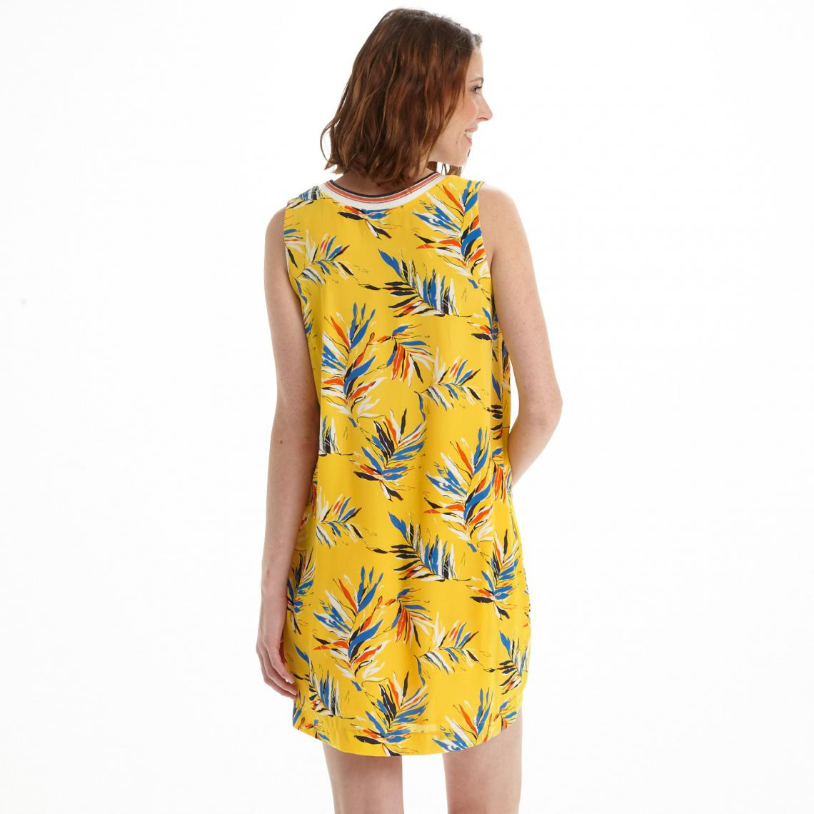 Robe courte femme Pepe Jeans - Jaune   3Suisses 4373db7743a6