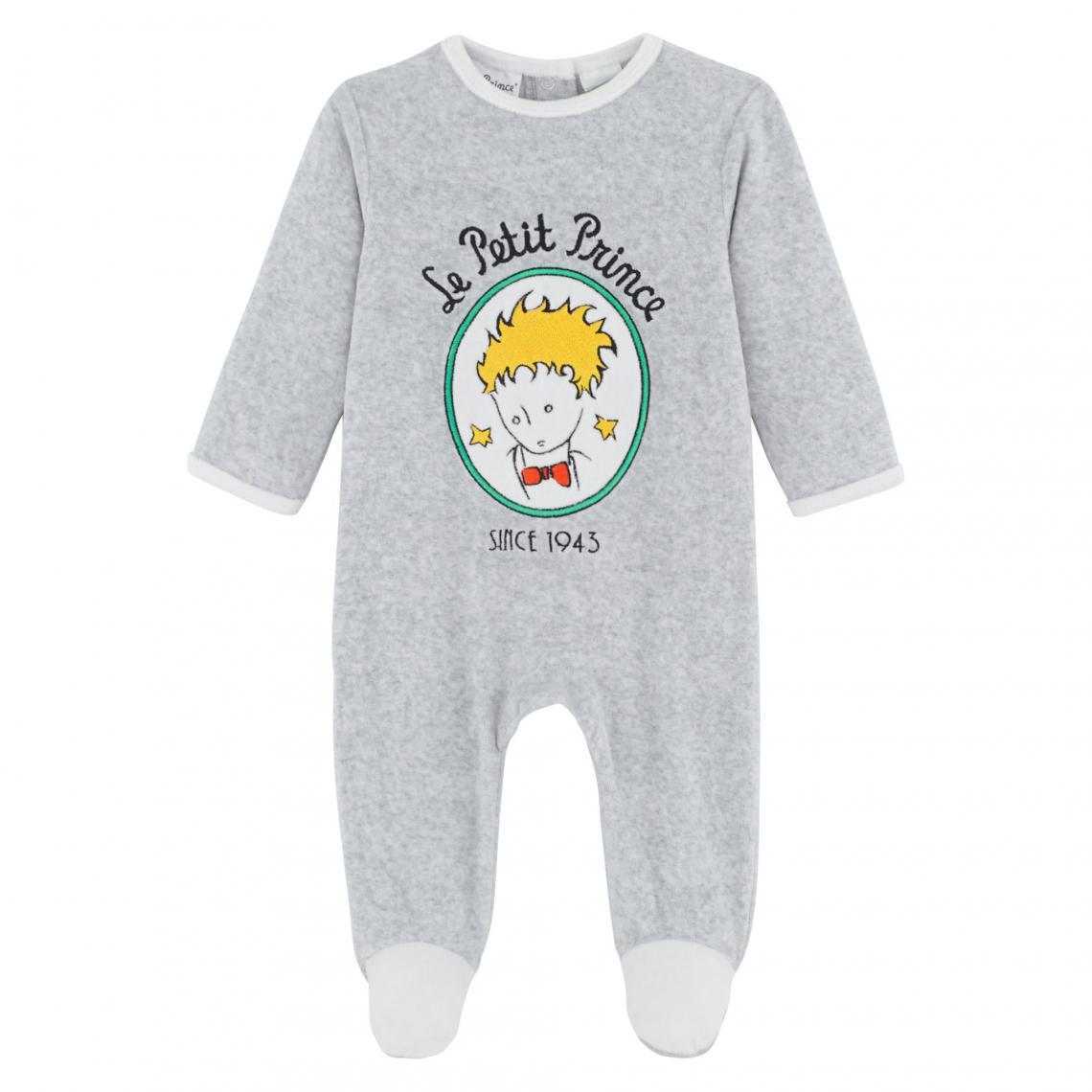 f6fa11dd7056a Dors-bien velours bébé garçon Le Petit Prince - Gris Petit prince Enfant