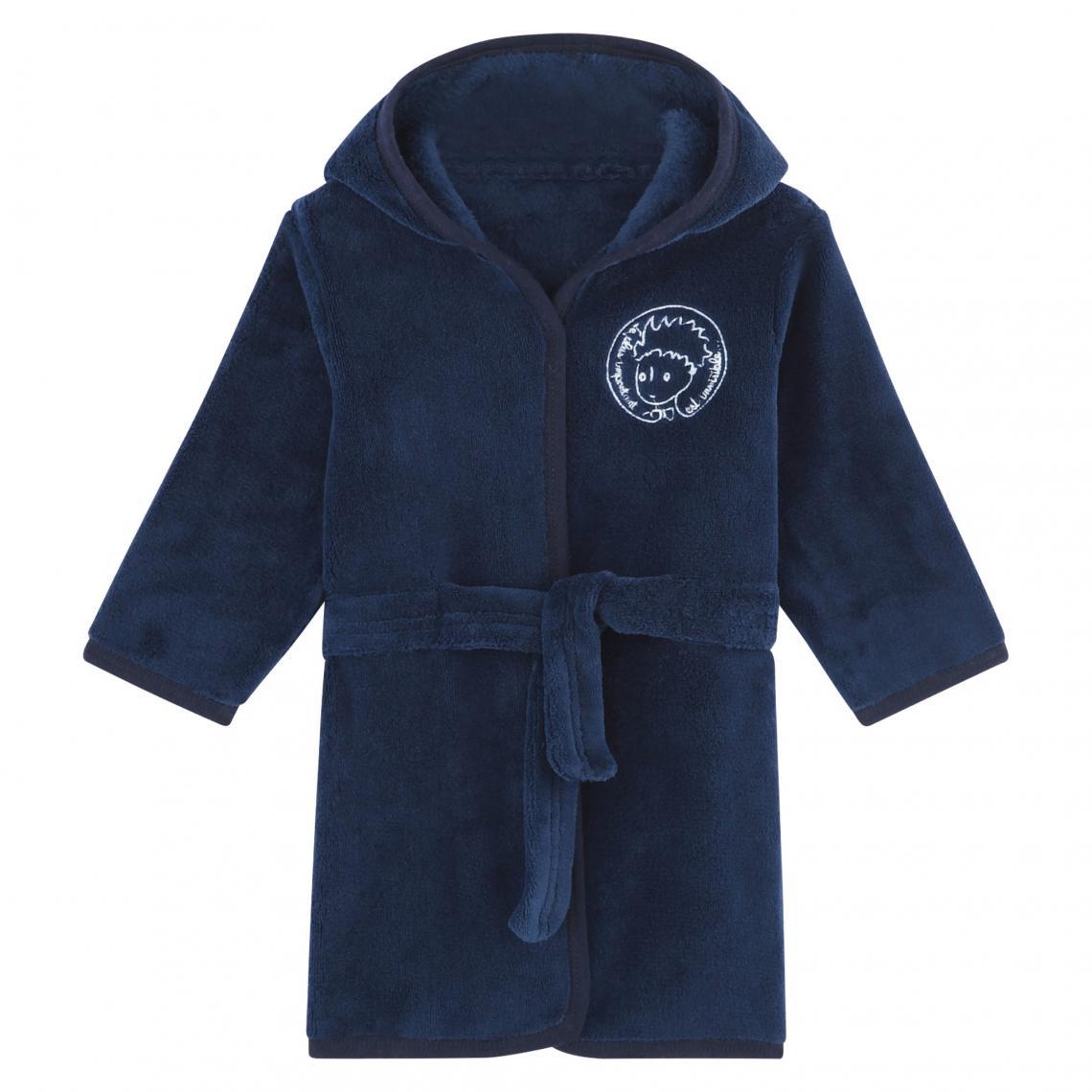18671638ed72c Robe de chambre à capuche garçon Le Petit Prince - Bleu Marine   3 ...