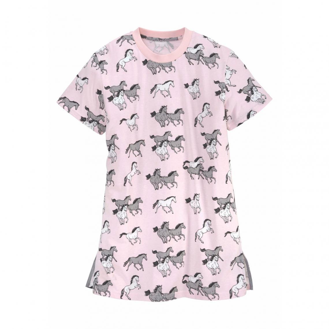 1ef32cdef3036 Pyjama Petite Fleur Cliquez l image pour l agrandir. Petite Fleur Mädchen  Nachthemd mit Allover Pferde-Print - Rose ...