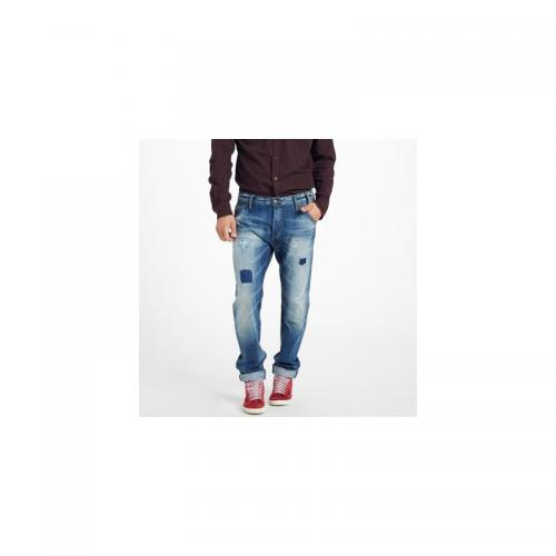 Petrol - Jean tapered destroy homme US 32 Tasker Petrol Industries - Bleu - Vêtements homme