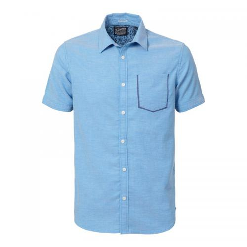 Petrol - Chemise à manches courtes homme Petrol Industries - Turquoise - Chemise manches courtes