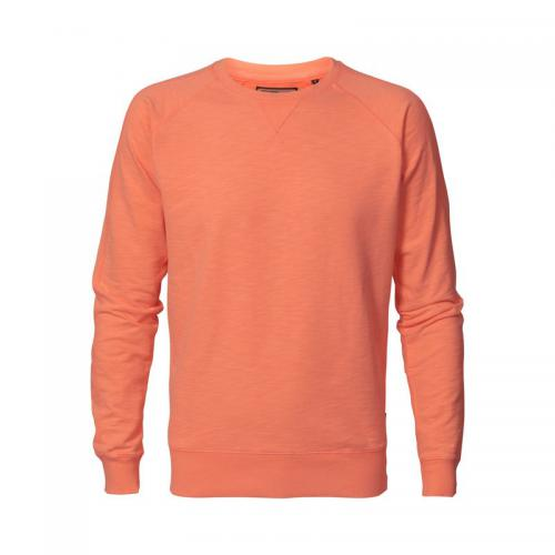 Petrol - Sweat fluo col rond homme Petrol Industries - Orange Fluo - Pull / Gilet / Sweatshirt