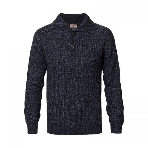 Petrol - Pull col montant homme Petrol - Bleu - Pulls homme