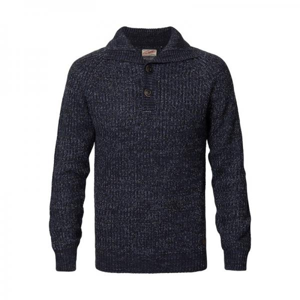 Pull col montant homme Petrol - Bleu Petrol Homme