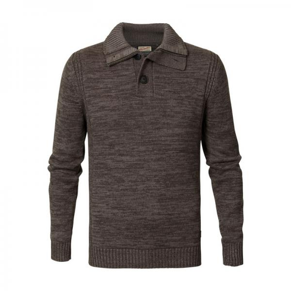 Pull col montant homme Petrol - Blanc Petrol Les essentiels Homme