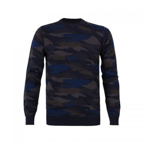 Pull camouflage homme Petrol - Bleu Marine Petrol Homme