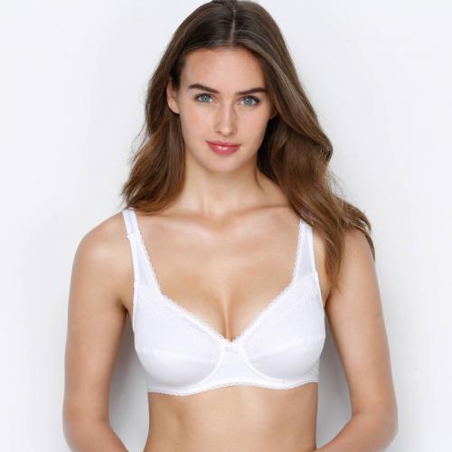 fe91d64634a12 Soutien-gorge à armatures Coeur Croisé féminin coton Playtex® - Blanc