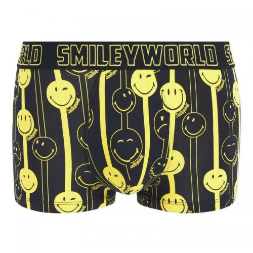 Boxer Funny Strip by Smiley POMM'POIRE - Noir Pomm Poire