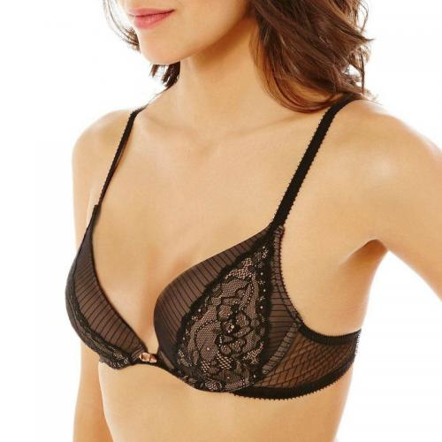 Pomm Poire - Soutien-gorge push-up peau So What POMM'POIRE - Noir - Soutiens-gorge push-up