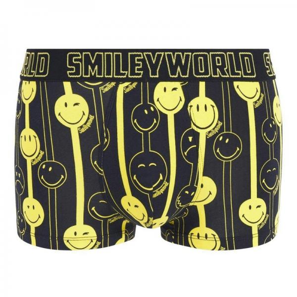 Boxer Funny Strip by Smiley POMM'POIRE - Noir Pomm Poire Homme