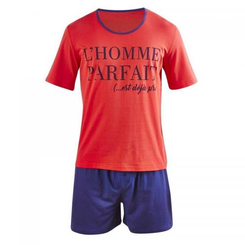 Pomm Poire - Pyjama court Perfect Man - Rouge - Pomm Poire