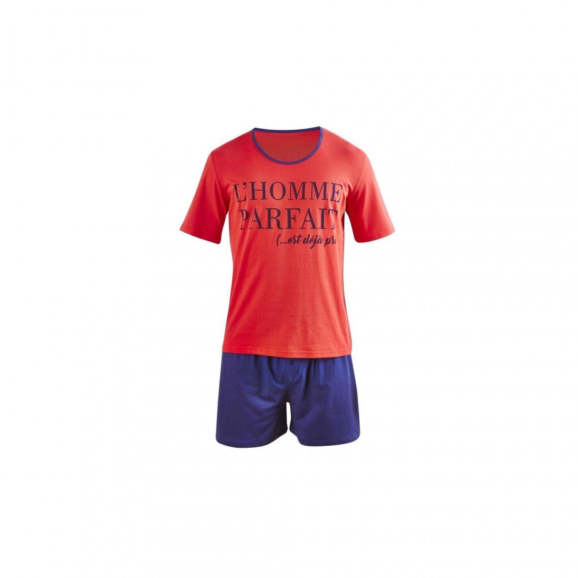 Pyjama court Perfect Man - Rouge - 3Suisses