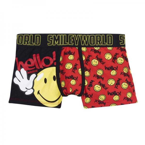 Boxer Boy imprimé Hello by Smiley POMM'POIRE - Multicolore Pomm Poire