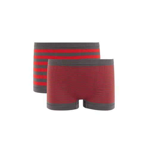 Pomm Poire - Lot de 2 boxers boy rayés Stripes by Djembé POMM'POIRE - Multicolore - Sous-vêtement