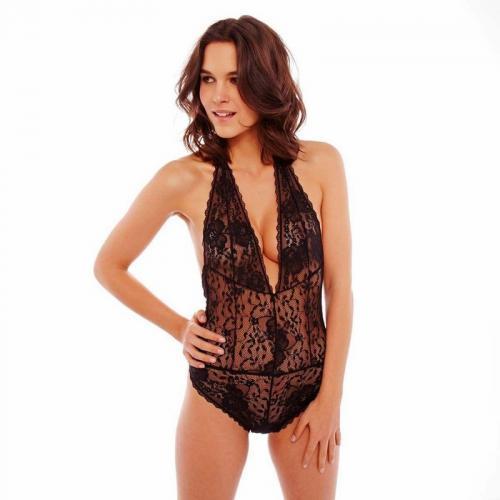 Pomm Poire - Body tanga noir Unique POMM POIRE - Noir - Lingerie sexy femme 9d0c759fdac