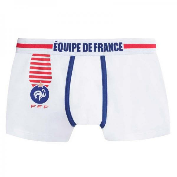 Boxer officiel Equipe de France de football boy Champion POMM'POIRE - Blanc Pomm Poire Enfant