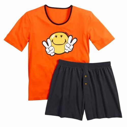 Pomm Poire - Pyjama court Night by Smiley POMM'POIRE - Orange - Pomm Poire