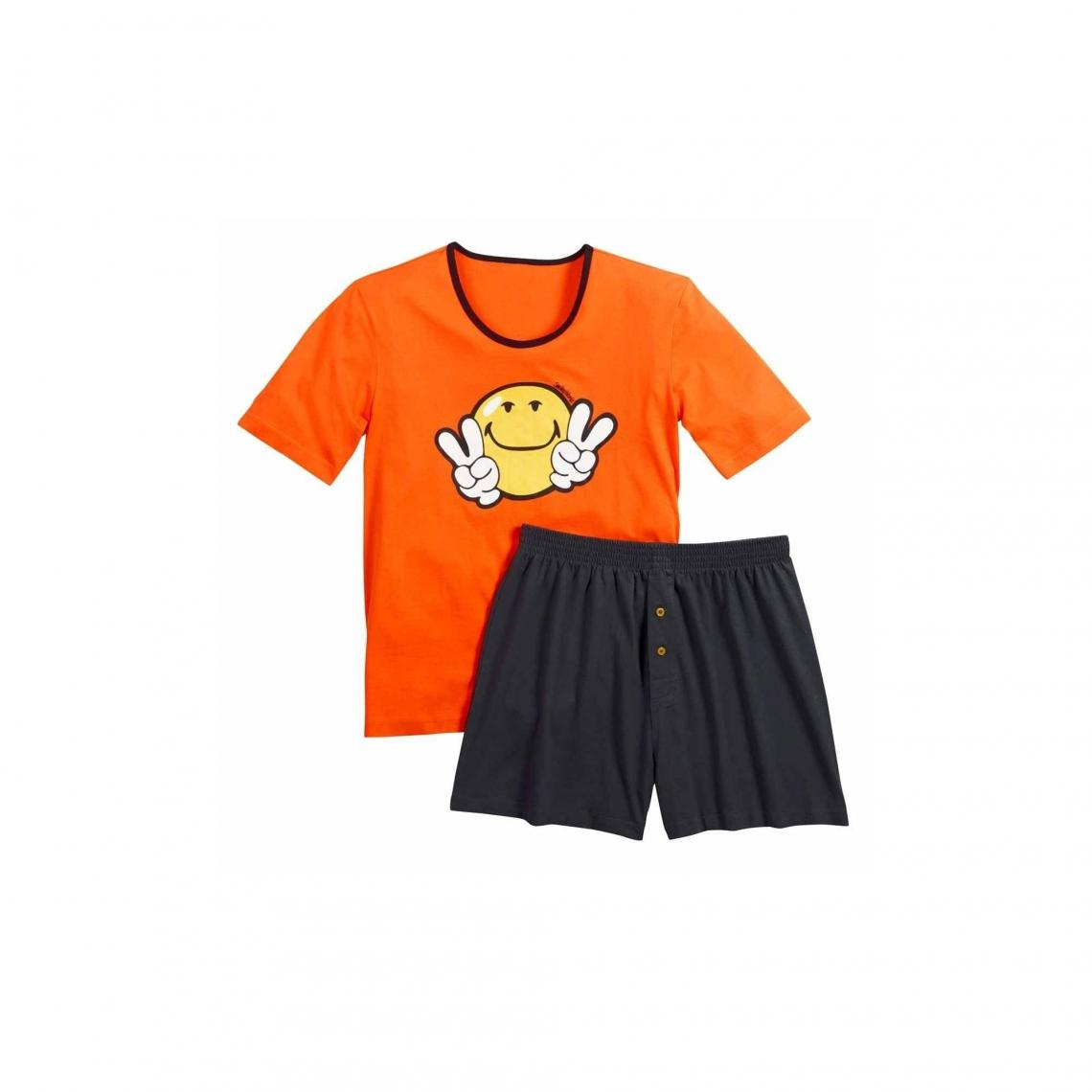 Pyjama court  Night by Smiley POMM'POIRE - Orange - 3Suisses