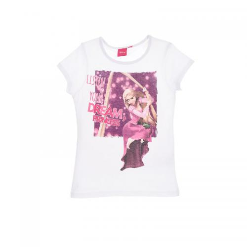 Princess - Tee-shirt manches courtes fille Princess - Blanc - T-shirt / Débardeur