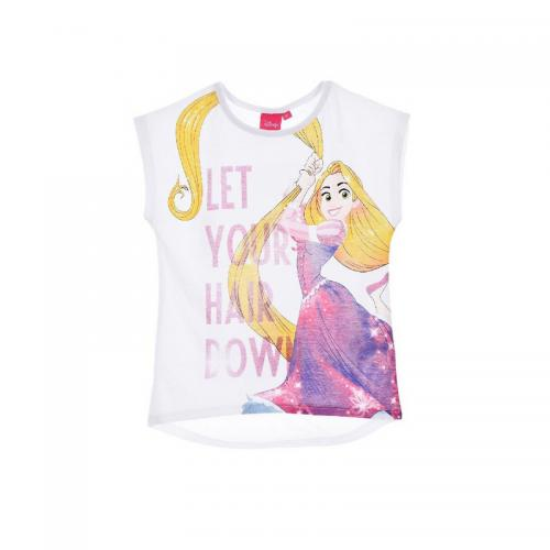 Princess - Tee-shirt manches courtes fille Princess - Blanc - Vêtements fille