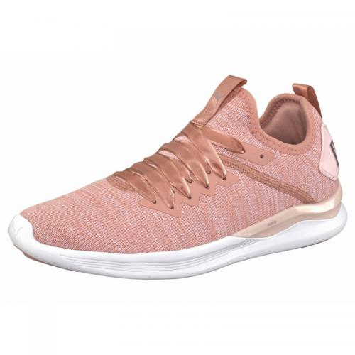 4c2ab9c20cd Puma - Chaussures de fitness femme Puma Ignite Flash evoKnit Satin - pêche  - Puma