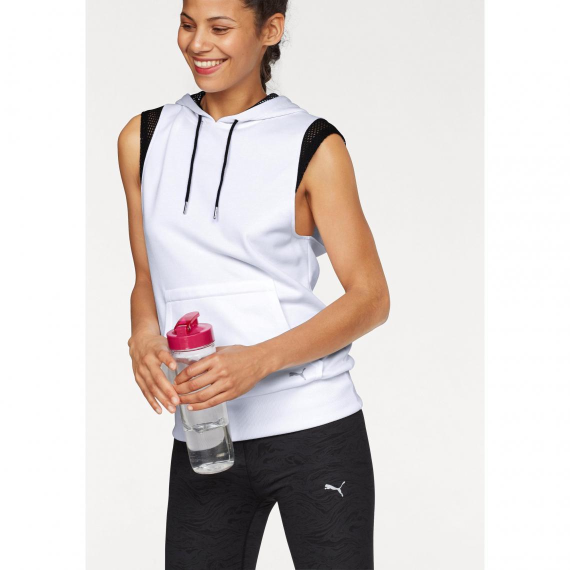 dfa09260126 Sweat-shirt à capuche sans manches femme Explosive Sleeveless Hoodie Puma  Puma Femme