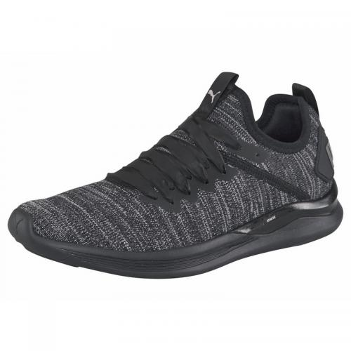 78442169353e3 Puma - Chaussures de fitness femme Puma Ignite Flash evoKnit Satin - Noir -  Gris -