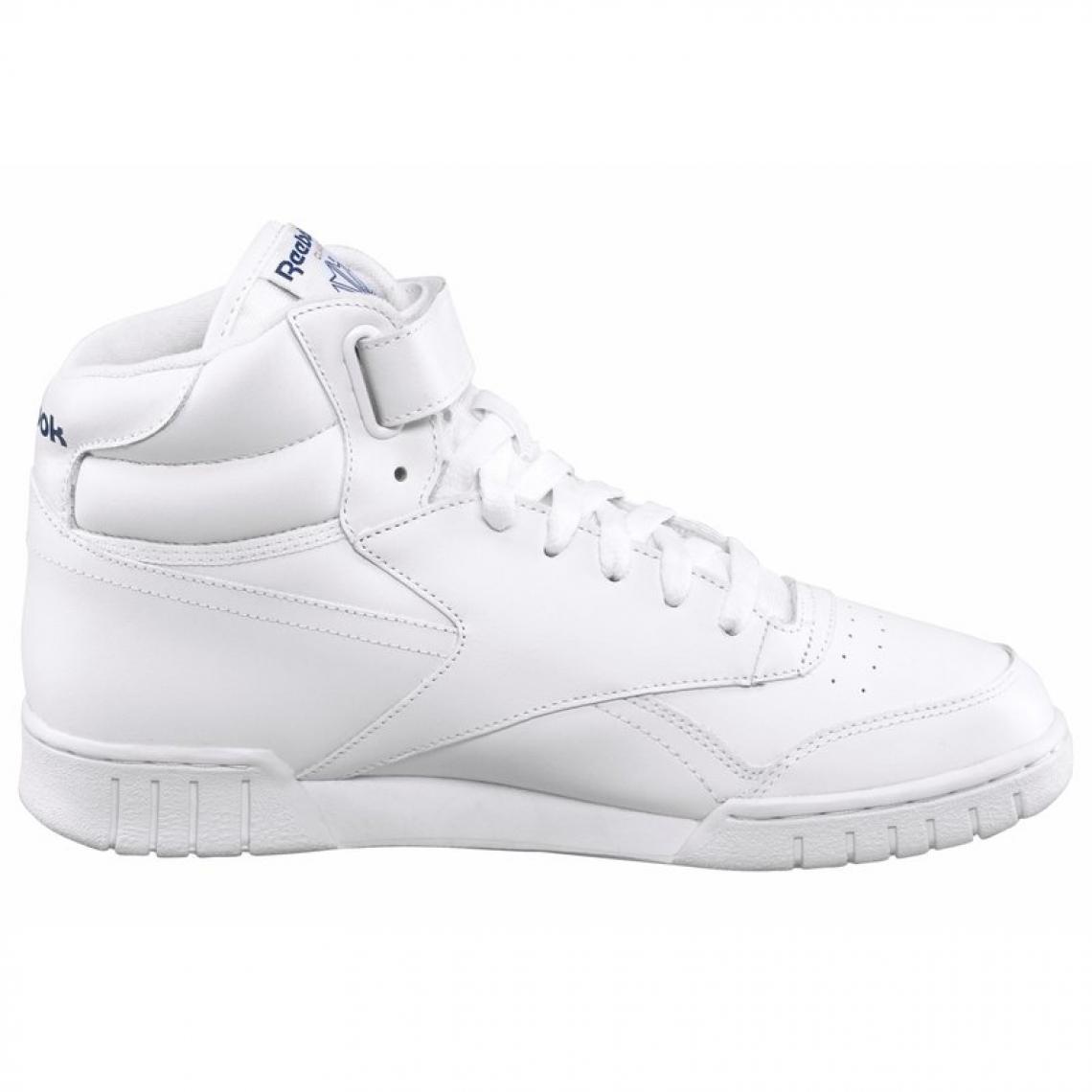c5058c7f8ce Reebok Ex-O-Fit Hi sneakers montantes cuir à scratch homme - Blanc Baskets