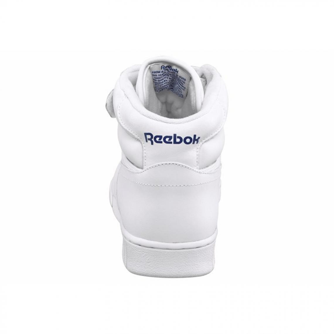 3e98fc7a09b Reebok Ex-O-Fit Hi sneakers montantes cuir à scratch homme - Blanc Reebok