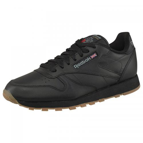 newest 86b00 3bf7e Reebok - Sneakers Reebok CL LTHR homme - Noir - Chaussures homme