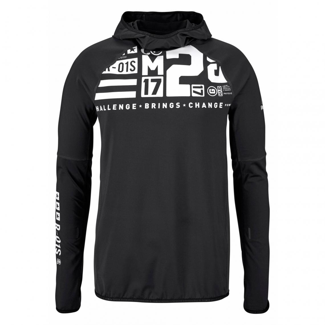1 45 À One Homme Noir T Manches Reebok Shirt Speedwick® Series Longues Avis htdrsQC