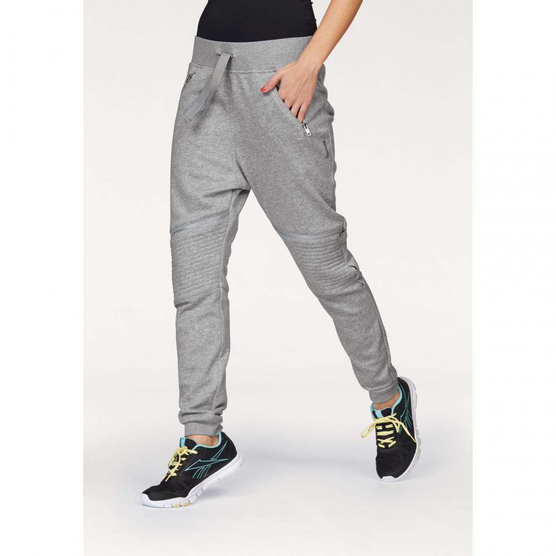 Pantalon de jogging sport femme Reebok - Gris Reebok Femme c32ae75209d