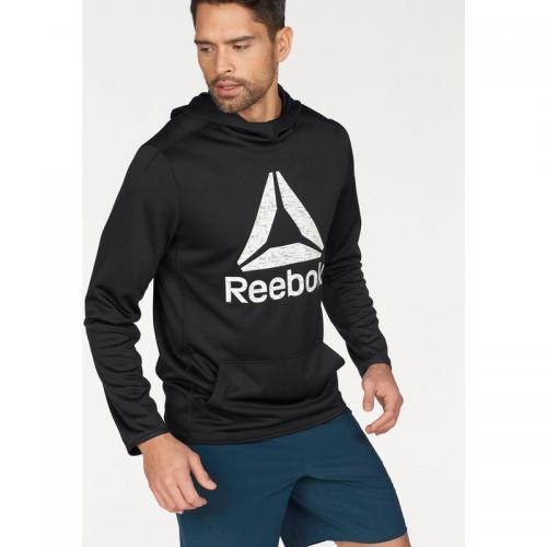 Reebok - Sweat manches longues à capuche homme Workout Ready Elitage Group Reebok - Noir - Promos vêtements homme
